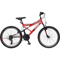 Umit Red Hawk 24 inch mountainbike Rood/Zwart