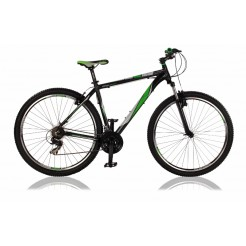 Veloce Iron 29 21 inch mountainbike Zwart/Groen 21SP