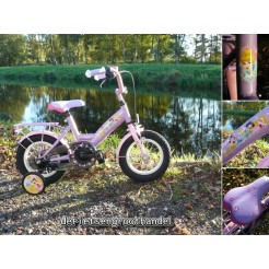 Bike Fun kinderfiets Disney Princess 12 inch (lichtpaars)