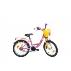 Bike Fun kinderfiets Sweet Cupcake 12 inch (geel roze)